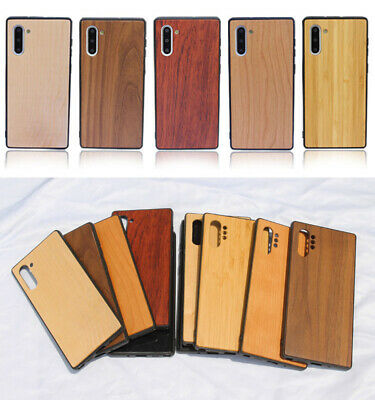 $ CDN14.61 • Buy Natural Wood Bamboo Protect Case TPU Phone Cover For Samsung Galaxy Note 10 Pro