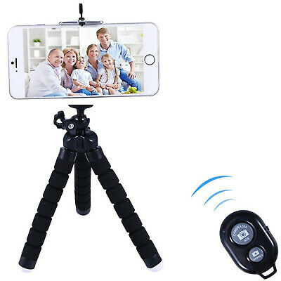 AU14.43 • Buy Phone Tripod, Flexible Mini Stand With Wireless Bluetooth Remote Shutter