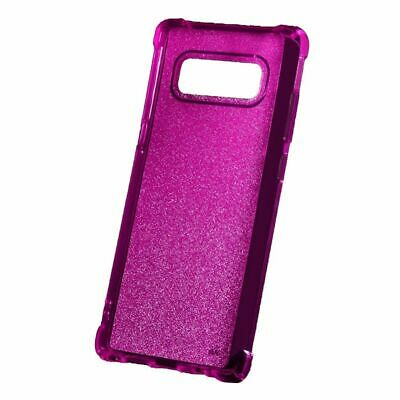 $ CDN11.73 • Buy For Samsung Galaxy Note 8 Hot Pink Sheer Glitter Candy Case Cover