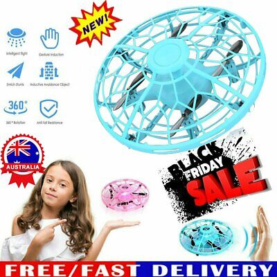 AU18.59 • Buy Mini Drones 360° Rotating Smart UFO Drone For Kids Flying Hand-Control Toys Xmas
