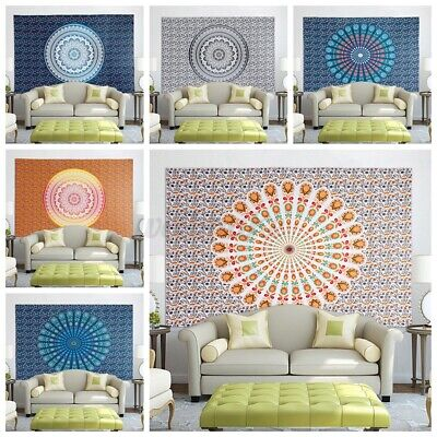 Indian Tapestry Wall Hanging Home Mandala Hippie Gypsy Bedspread Throw Cover • 10.33£
