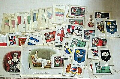 £10.50 • Buy BDV & Wix Kensitas Mixed Silk Cigarette Cards ~ Approx 35 ~ Flags & Arms Etc.