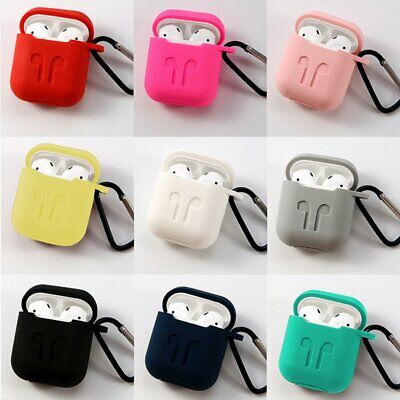 $ CDN8.41 • Buy For Apple AirPods 1 2 Case Silicone Anti-Lost Keychain Holder Protective Cover