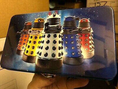£7.99 • Buy New DR DOCTOR WHO Metal Pencil DALEKS Tin 2009 Lunch Sandwich Collectables Box