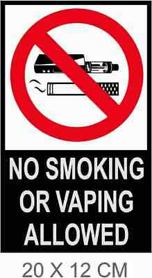 $ CDN2.89 • Buy NO SMOKING Or VAPING SAFETY WARNING SIGNS Stickers For Walls, Doors, Glass.