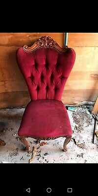 French Ornate Occasional Chair (UP CYCLE PROJECT??) • 20£