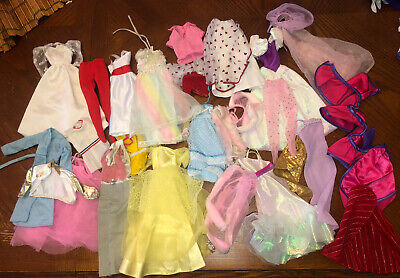 $ CDN15.92 • Buy Huge Lot Of Vintage Barbie Doll Clothes Dresses Gowns 80's AS IS Some Flawed