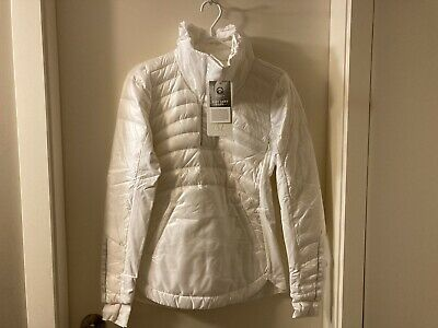 $ CDN189.99 • Buy Lululemon Down For A Run Pullover Jacket Size 6 White NWT