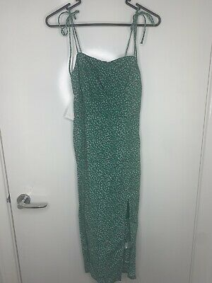 AU45.50 • Buy Hello Molly Green Floral Midi Dress(size 8)