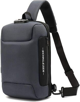 $42.14 • Buy  Large Crossbody Sling Bag Anti-theft Laptop Backpack, Casual Chest Grey