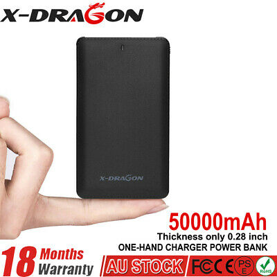 AU18.39 • Buy 50000mAh Portable Charger Power Bank Lightning Adapter External Battery Pack AU