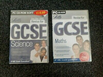 Letts Revise For GCSE Maths & Science Exams PC CD-ROM (A* ABC Grade Guarantee). • 1.90£