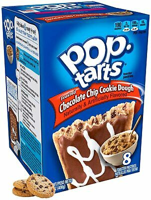 £6.99 • Buy Kellogg's Pop Tarts Frosted Chocolate Chip Cookie Dough Pastries Snack American