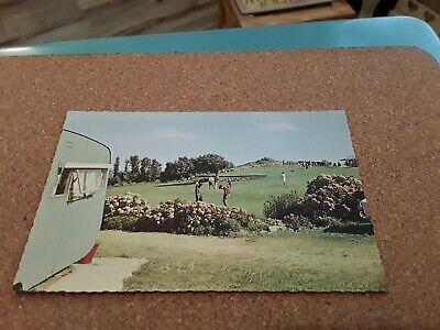 Postcard Putting Green, Flowers Brook, Ventnor, Isle Of Wight Iow Iw Old Caravan • 3.25£