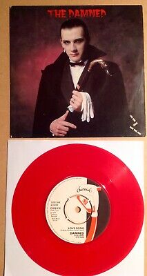 THE DAMNED  Love Song  Red Vinyl RARE Dave Vanian Sleeve MINT Near Mint • 19.50£
