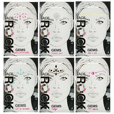 Face Gem Stickers Body Adhesive Tattoo Festival Summer Party Glitter Make Up • 3.99£