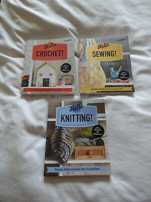 Set Of 3 Crafting Books: Sewing/Knitting/Crochet - Easy Projects For Beginners • 5.99£