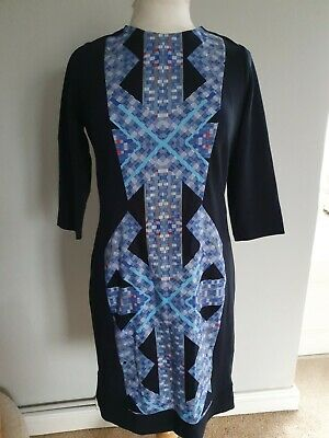 Brand New Size 12   Limited Collection M&S Dress Blue Mix • 5£