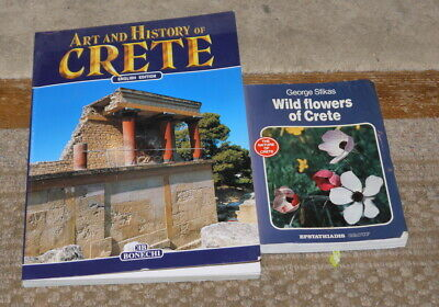 4 Crete Guide Books: Art, Wildflowers, Phaistos, Gortyn • 6.99£