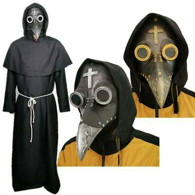 Costume Halloween Props Plague Doctor Bird Mask Long Nose Beak Cosplay Steampunk • 11.99£