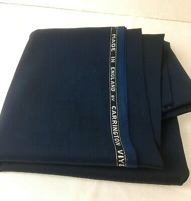 Vintage Navy Wool/tactel Fabric Remnant By Carrington Viyella L 1.09m X W 1.56m • 4.99£