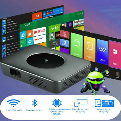 AU359.86 • Buy 8000 Lumens Smart DLP Projector Android Home Theater Cinema WiFi BT HDMI AV 2021
