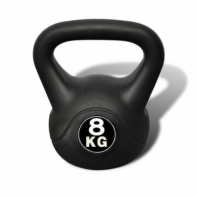 AU50.99 • Buy VidaXL Kettlebell 8kg Concrete Weight Fitness Home Gym Exercise Dumbbell