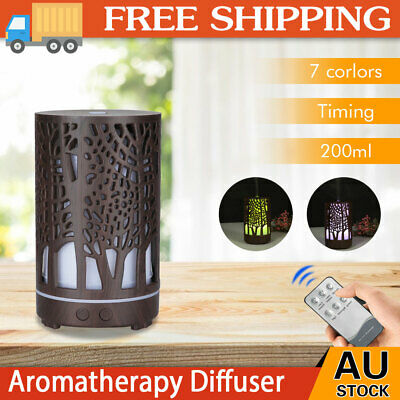 AU24.99 • Buy Aroma Aromatherapy Diffuser LED Essential Oil Ultrasonic Air Humidifier Purifier