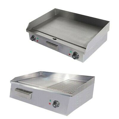 £102.99 • Buy Commercial Griddle Stainless Steel Counter Top Hot Plate Meat Food Grill Plates