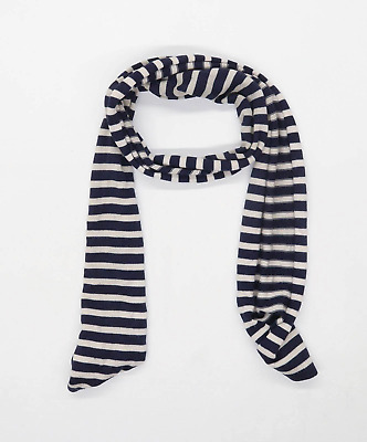 Gap Blue Striped Womens Merino Wool Blend Scarf • 7£