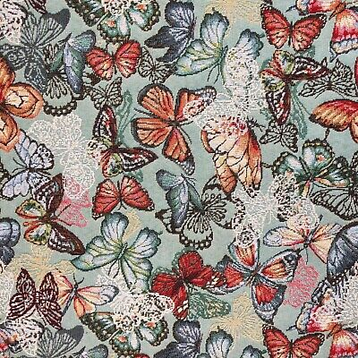 £9 • Buy Tapestry Fabric Monet Butterflies Upholstery Furnishings Curtains 140cm Wide