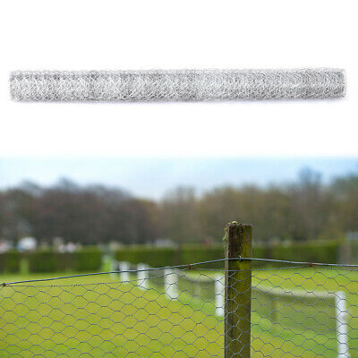 Chicken Wire Mesh Galvanised Netting Fence Pet Rabbit Garden Cages Pens 5m 10m • 10.74£