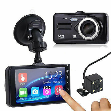 AU64.99 • Buy 1080P Touch Screen Car DVR Camera Recorder Dual Lens Front And Rear HD Dash Cam