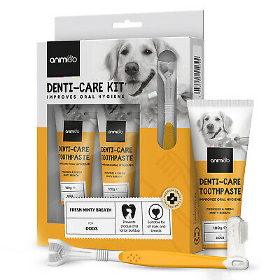 Dog Dental Care Kit 200g For Teeth Cleaning, Plaque, Bad Breathe & Stain Removal • 12.99£