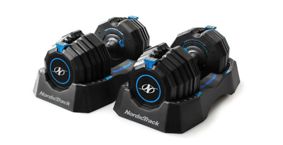 $ CDN758.15 • Buy NordicTrack Adjustable Dumbbells With Storage Tray -55lb PAIR Compare To Bowflex