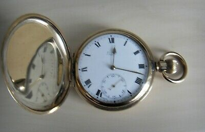 Antique Gent's 9 Ct Gold Filled Limit Full Hunter Swiss Made Pocket Watch • 60£