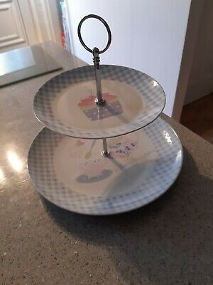 Vintage Style 2 Tier Cake Stand • 8.99£