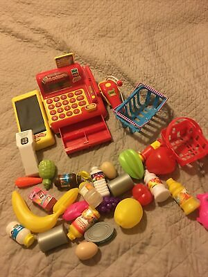 Cash Register With Scanner And Grocery  • 10£
