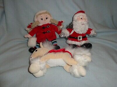 Tesco Chilly And Friends Soft Toy Pony, Ragdoll & Santa, All Immac Con • 7.99£