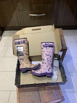 Hunter Wellies Boots Royal Horticultural Society Sweet Pea Butterfies Uk 4 Faded • 10£