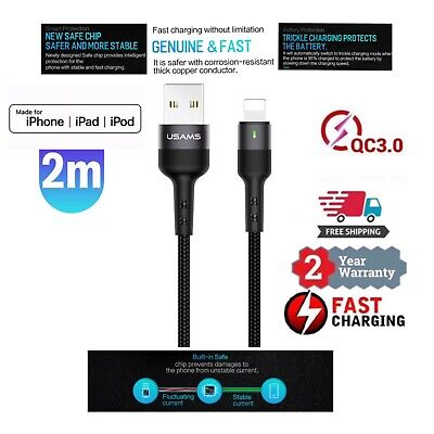 AU7.75 • Buy USB Charging Phone Cable Data Cord Charger For IPhone 12 11 7 X 8 6 IPad Usams