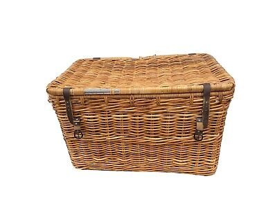 Very Large Wicker Storage Trunk | Chest Toy Basket 90cm X 56cm X 51cm • 55£