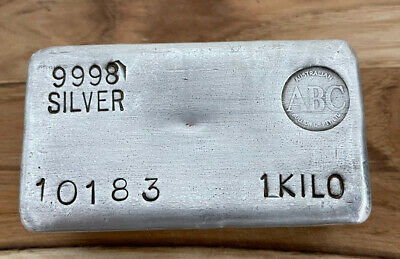 AU2000 • Buy ABC Bullion 1kg Silver Bar