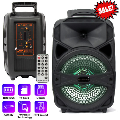 $38.99 • Buy 8'' Portable FM Bluetooth Speaker Subwoofer Heavy Bass Sound System Party 1000W