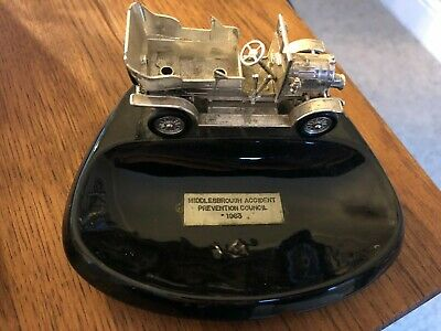 1963 Vintage Ashtray From Middlesbrough Accident Prevention Council With Car • 0.99£