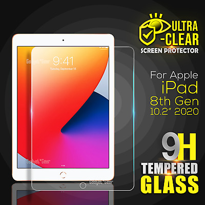 AU8.49 • Buy For Apple IPad 7th 8th Gen 7 / 8 Generation 10.2 Tempered Glass Screen Protector