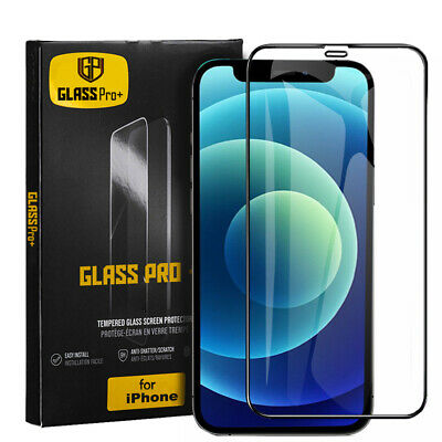 AU5.99 • Buy Tempered Glass Full Screen Protector For IPhone 12 X XS 11 Pro MAX XR 7 8 Plus