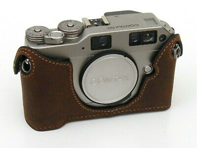 $ CDN88.21 • Buy Leather Distress Suede Half Case For Contax G2 - BRAND NEW