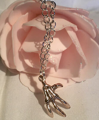 Bracelet Silver Plated Skeleton Punk Hand Claw Charm • 3.99£