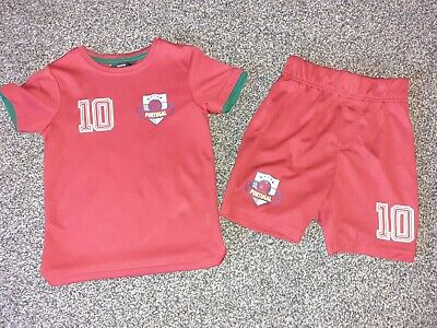 Boys George Portugal Football Top & Shorts 4-5 Years Excellent Condition  • 0.99£
